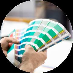 Échantillons de couleurs de peinture