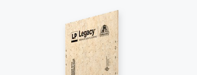 One sheet of LP Legacy Premium sub flooring.