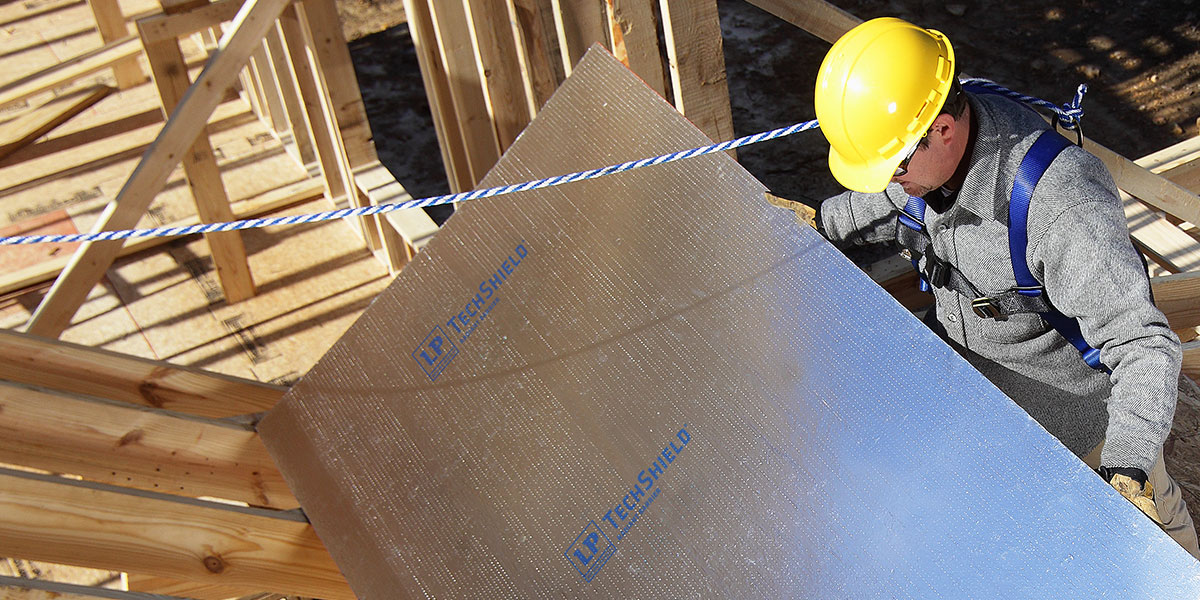Radiant barrier sheathing roof sheathing lp techshield for What to use for roof sheathing