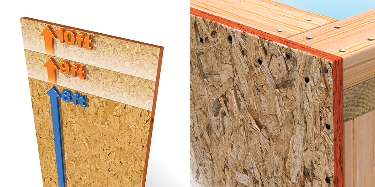 Lp longlength longlength xl osb sheathing lp building for Exterior wall sheeting
