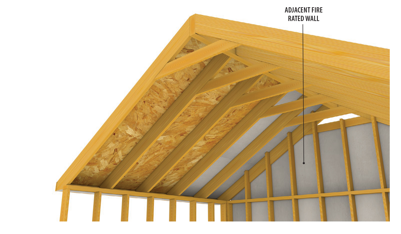 Lp flameblock fire rated osb for residential builders lp for Roof sheathing material