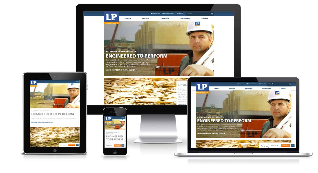 LP's Website Redesign and a New Home for Engineered Wood