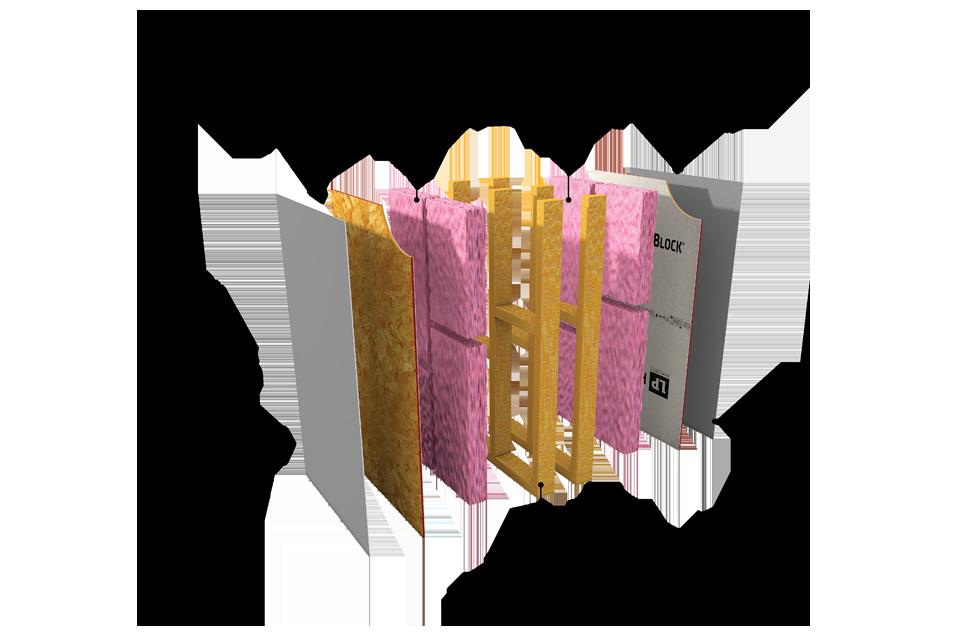 Lp flameblock fire rated assemblies lp building products for Fiberglass insulation fire rating