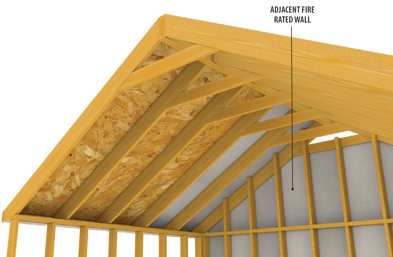 Lp flameblock fire rated osb for residential builders lp for Fire resistant roofing