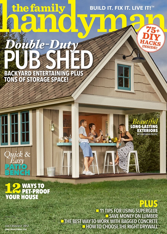 LP Shed Products Featured in July/August Issue of The Family Handyman Magazine