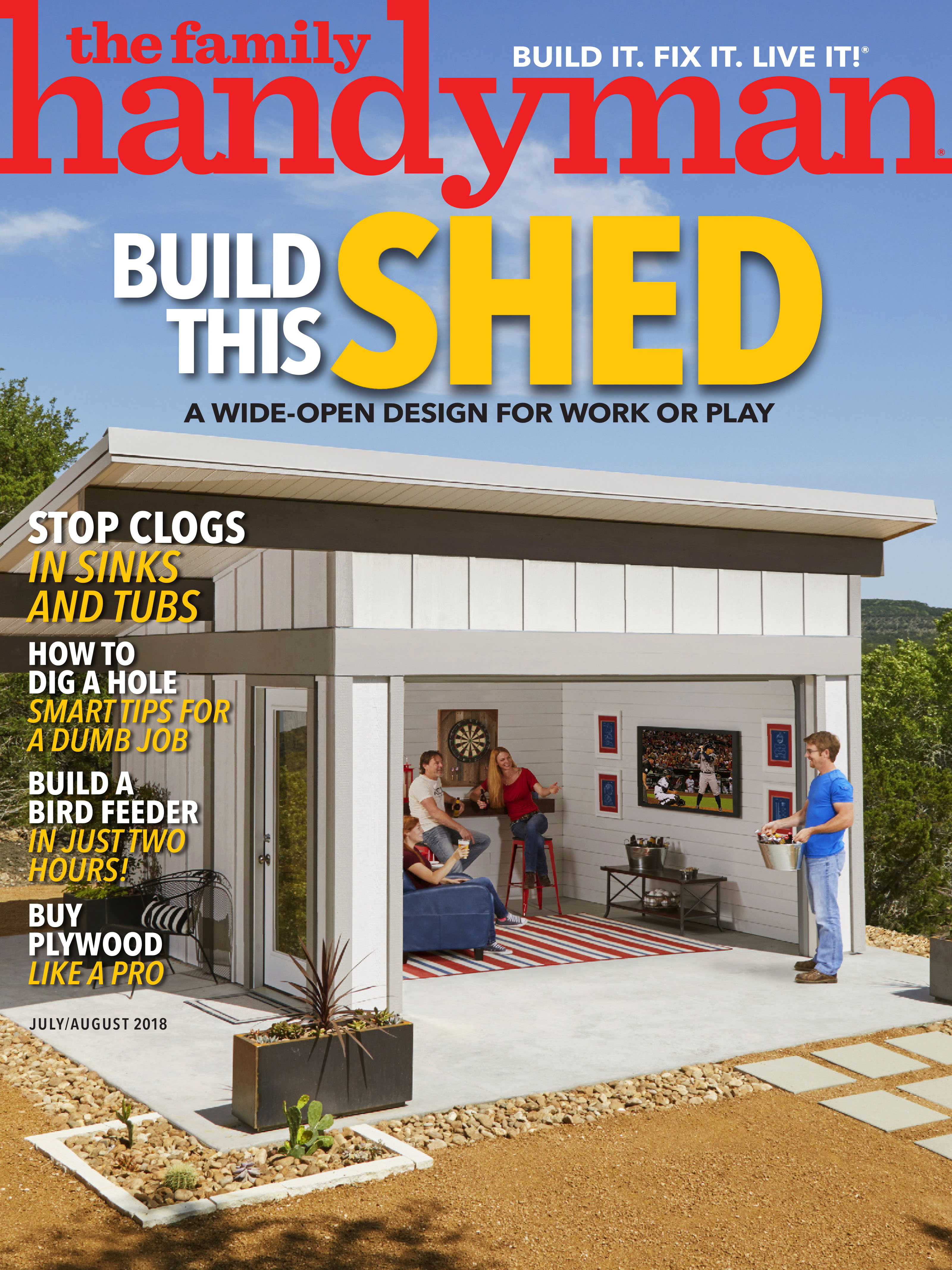 'The Game Day Shed' Featured in July/August Issue of The Family Handyman Magazine
