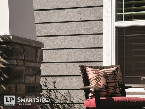 lp smartside siding by porch