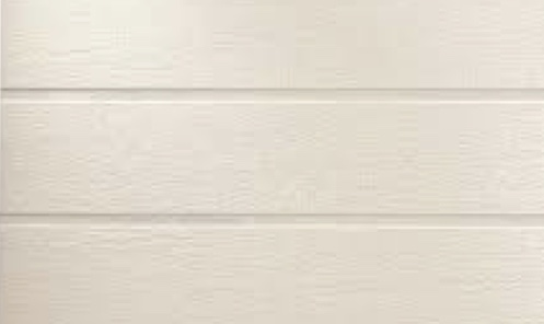 white composite siding
