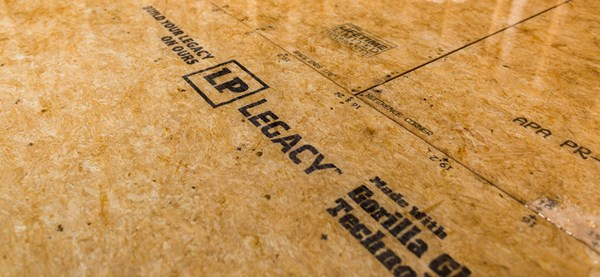 LP Legacy<sup>®</sup> Premium Sub-Flooring in 23/32 Performance Category is APA Structural I Rated Sheathing, which makes it a great sub-floor option for builds that require exceptional load bearing or stiffness.