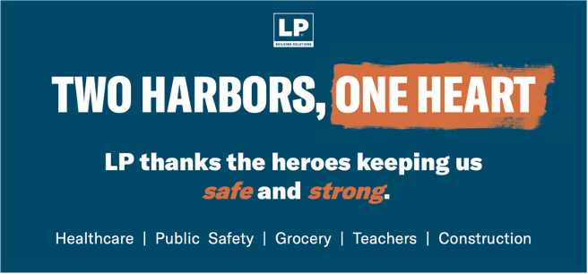 LP Building Solutions thanks COVID-19 heroes
