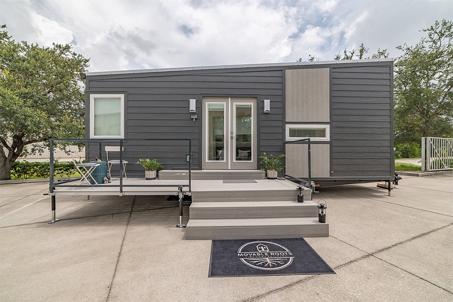 LP SmartSide siding adds style to this tiny home