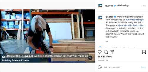 Construction Instruction puts LP WeatherLogic Air & Water Barrier to the test.