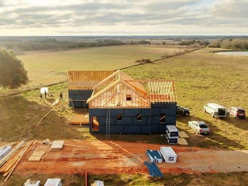 LP Building Solutions Modern Farmhouse Overhead of Site